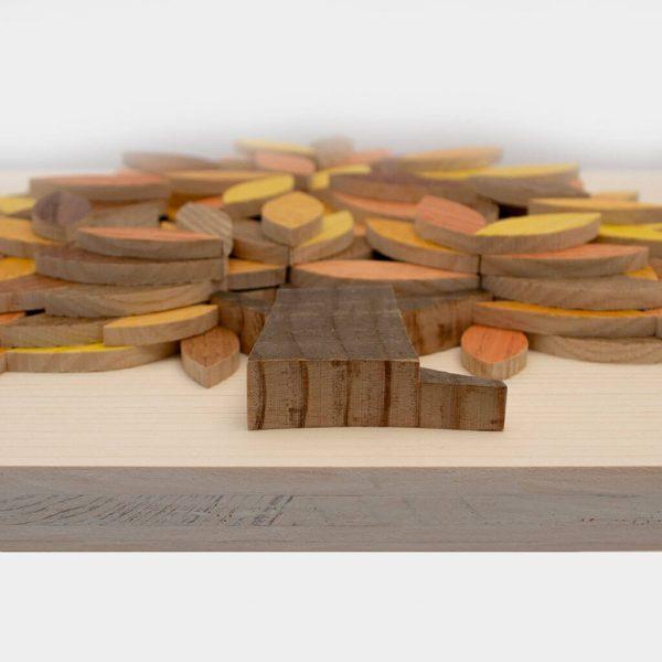 Albero della vita in legno - Giallo - Inquadratura rilievo
