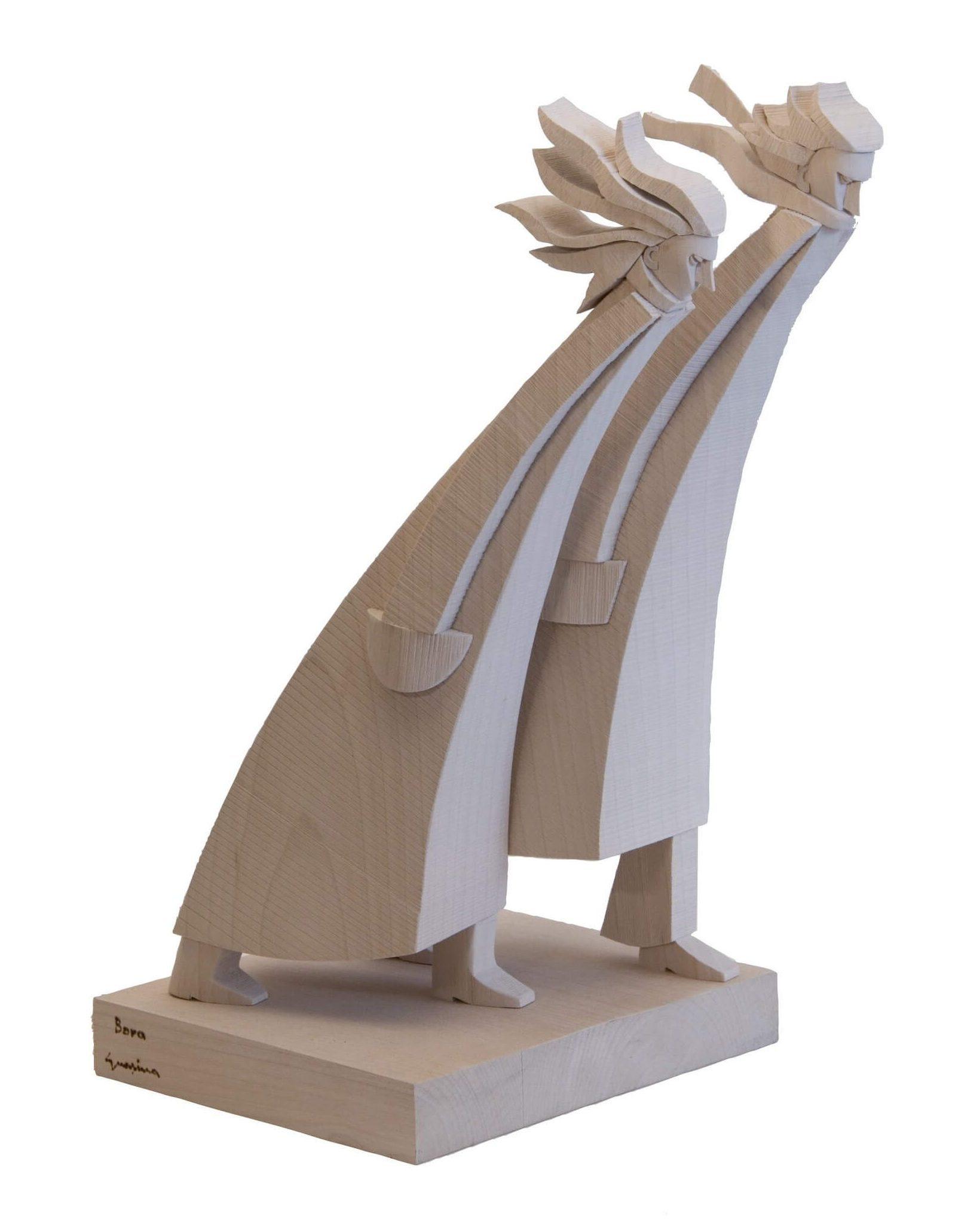 Scultura Guasina in legno - Soggetto: La bora