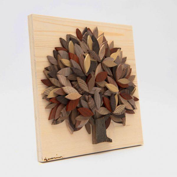 Albero della vita in legno - Sfumature marrone - Taglio