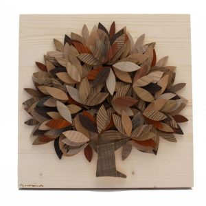 Albero della vita in legno - Sfumature marrone