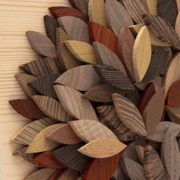 Albero della vita in legno - Sfumature marrone - Foglie