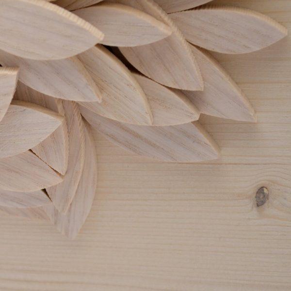 Albero della vita in legno - Sfumature chiare - Foglie