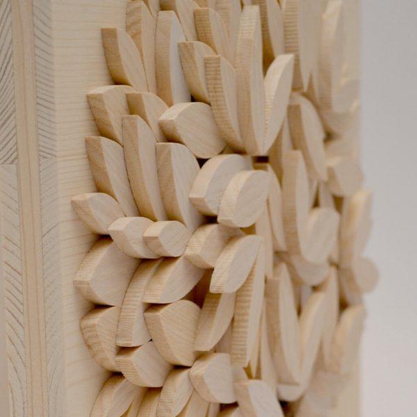 Albero della vita in legno - Sfumature chiare - Particolare rilievo