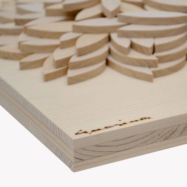 Albero della vita in legno - Sfumature chiare - Particolare foglie