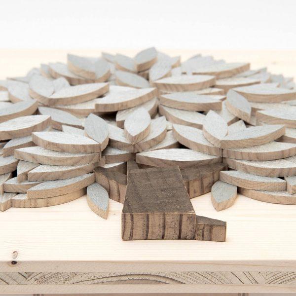 Quadro Albero della vita in legno - Argento - Dal basso