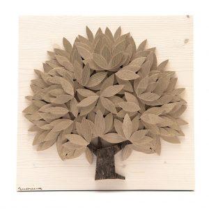 Quadro Albero della vita in legno - Oro