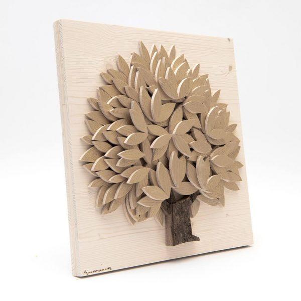 Quadro Albero della vita in legno - Oro - Laterale