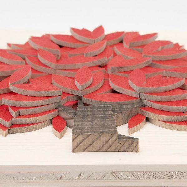 Quadro Albero della vita in legno - Rosso - Dal basso