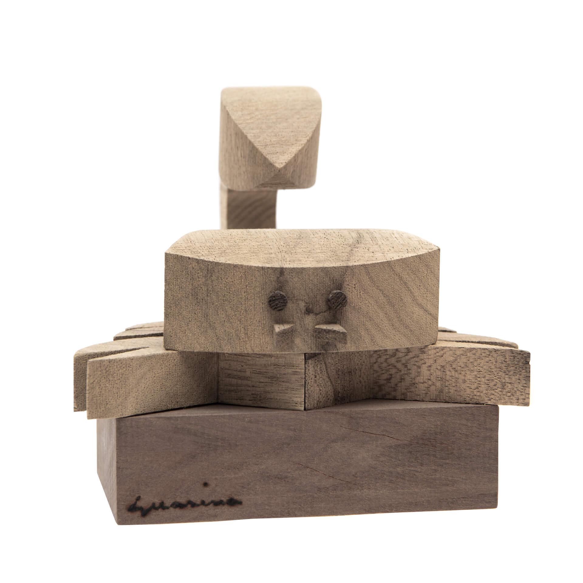 Scultura in legno Scorpione - Dimensione media 15 x 17 x 13 cm (b x p x h)