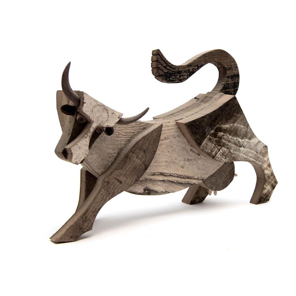 Scultura in legno Mucca - Dimensione media cm. 43 x 11 x 27
