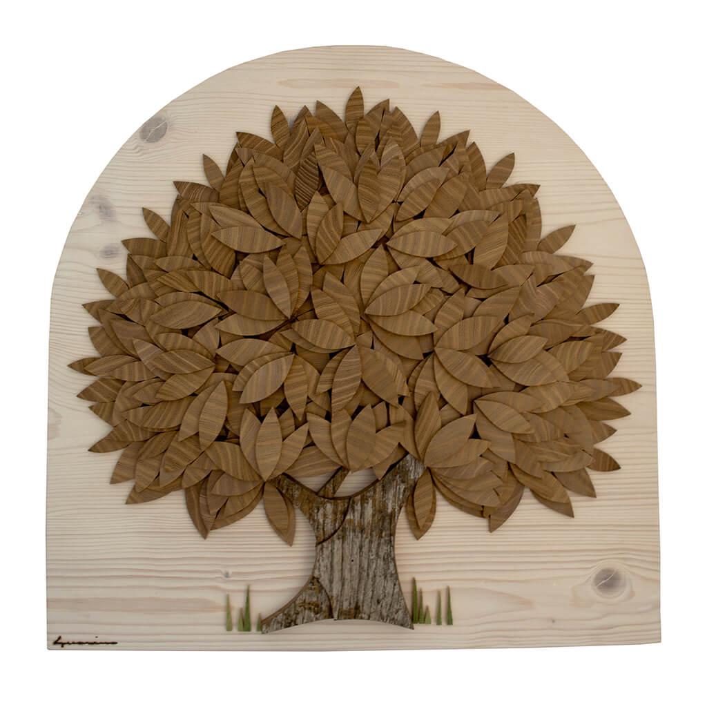 Albero con foglie di robinia- Dimensione media 40 x 5x 40 cm (b x p x h)