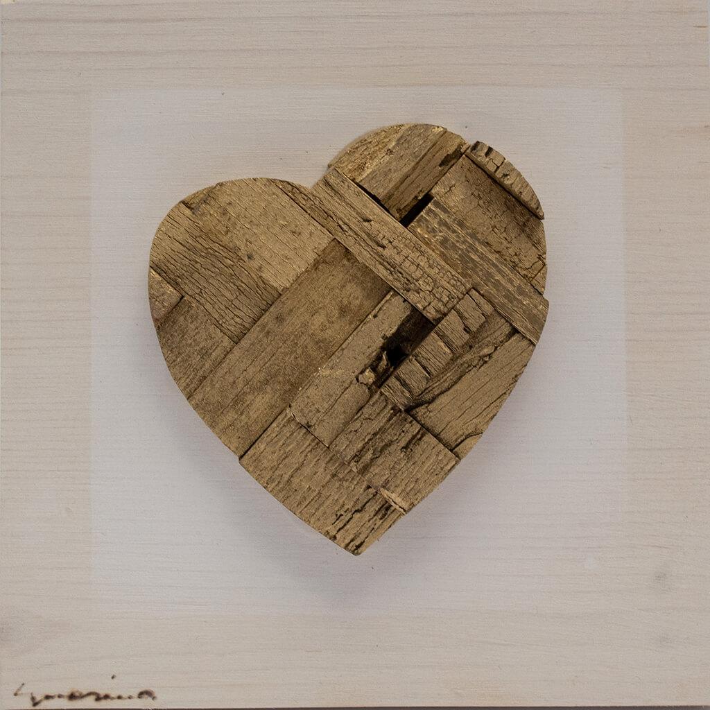 Pannelli in legno - Cuore Colore Naturale - disponibile in dimensione cm 20 x 4 x 20 oppure 30 x 4 x 30