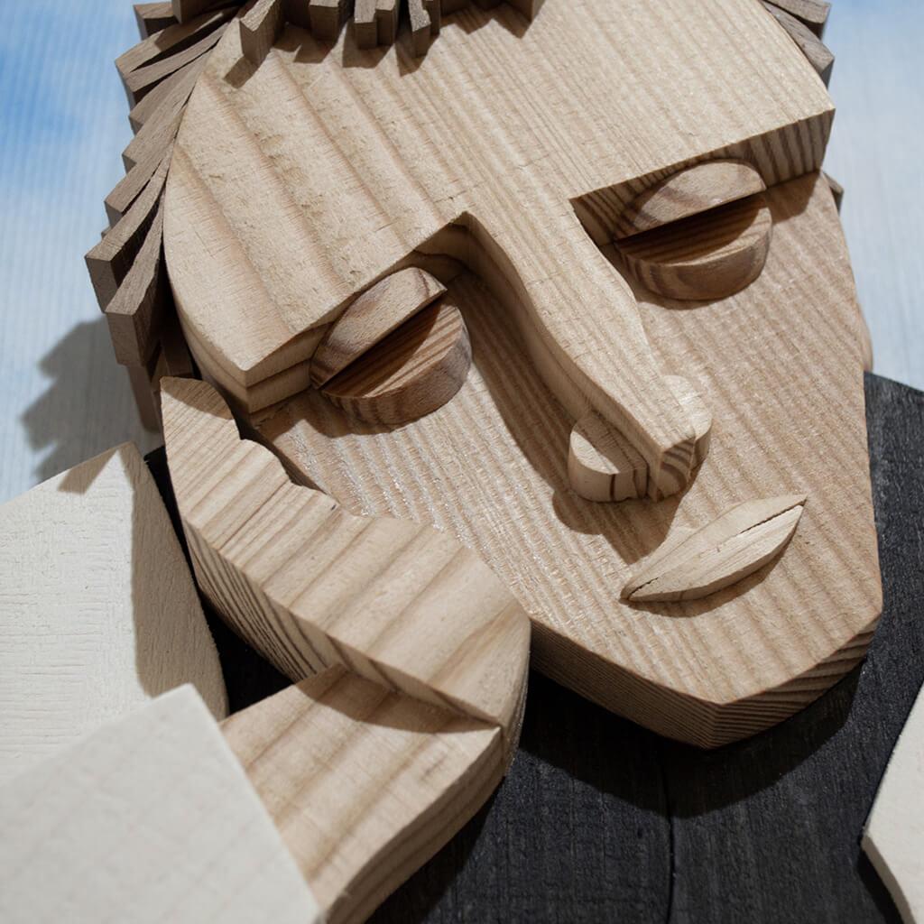 Scultura Guasina in legno - Dettaglio