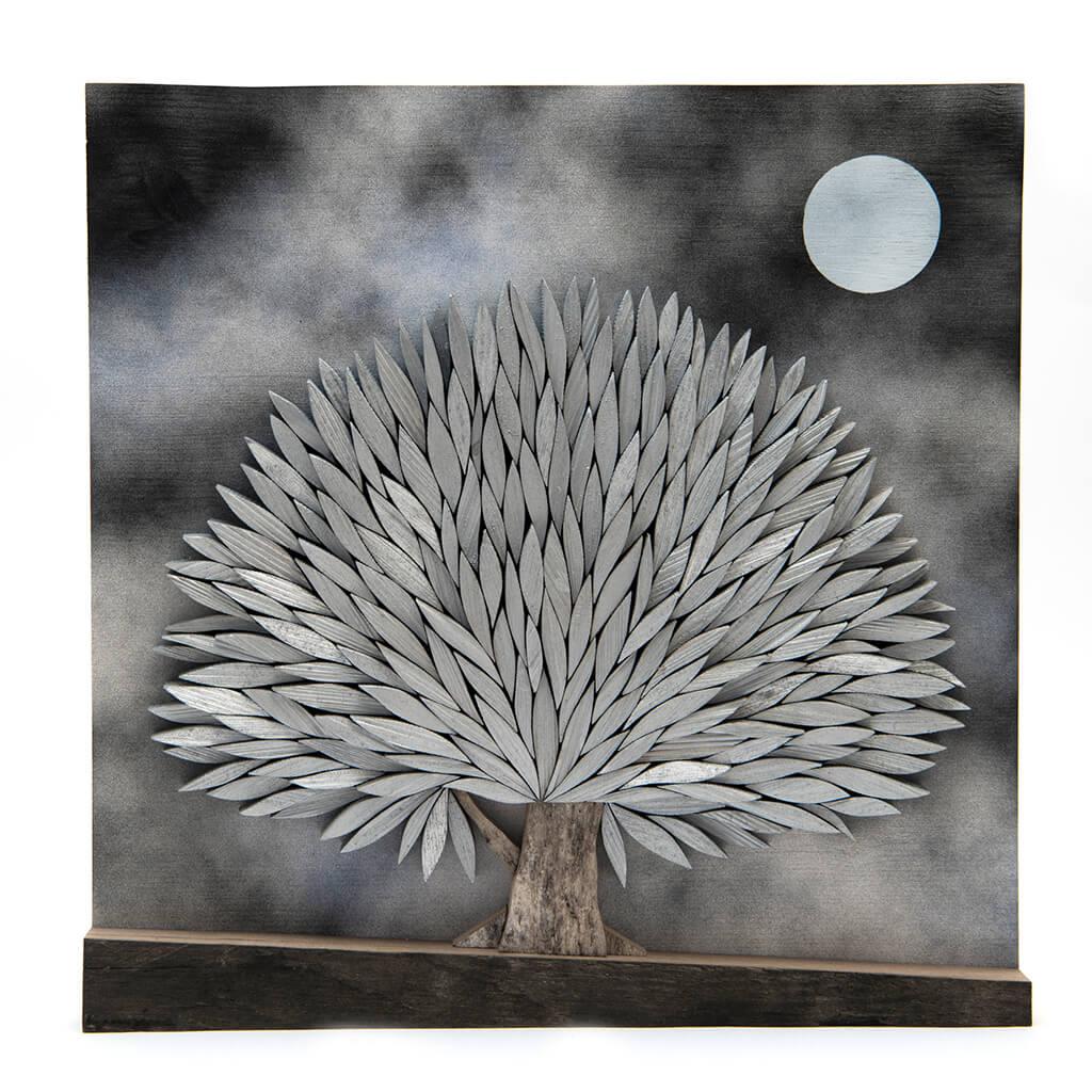 Albero alla Luna - Dimensione media 40 x 4 x 40 cm (b x p x h)